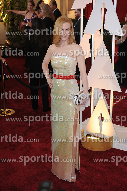 22.02.2015, Dolby Theatre, Hollywood, USA, Oscar 2015, 87. Verleihung der Academy of Motion Picture Arts and Sciences, im Bild Nicole Kidman // attends 87th Annual Academy Awards at the Dolby Theatre in Hollywood, United States on 2015/02/22. EXPA Pictures &copy; 2015, PhotoCredit: EXPA/ Newspix/ PGMP<br /> <br /> *****ATTENTION - for AUT, SLO, CRO, SRB, BIH, MAZ, TUR, SUI, SWE only*****