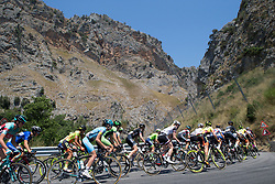 The peloton rides through a scenic valley on Stage 9 of the Giro Rosa - a 122.3 km road race, between Centola fraz. Palinuro and Polla on July 8, 2017, in Salerno, Italy. (Photo by Balint Hamvas/Velofocus.com)