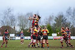 Lineout - Rogan Thomson/JMP - 15/01/2017 - RUGBY UNION - Cleve RFC - Bristol, England - Bristol Ladies Rugby v Richmond WRFC - RFU Women's Premiership.