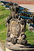 Festung Königstein, Kanonen, Elbsandsteingebirge, Sächsische Schweiz, Sachsen, Deutschland.|.Fortress Koenigstein, canons, Saxon Switzerland, Saxony, Germany.