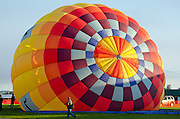 'Aerloon' inflating at the Crown of Maine Balloon Fair, Presque Isle, Maine.