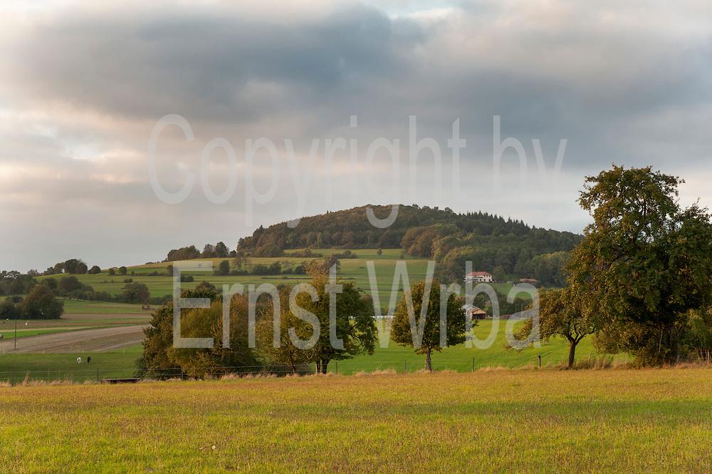 Katzenbuckel, höchster Punkt des Odenwaldes (626m), Walldürn, Odenwald, Naturpark Bergstraße-Odenwald, Baden-Württemberg, Deutschland   Katzenbuckel, highest hill in Odenwald, Baden-Wuerttemberg, Germany