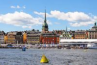 Sweden, Stockholm. Center of Stockholm. Gamla Stan from Skeppsholmen.