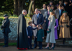 Royals attends Christmas Day Church service - 25 Dec 2019