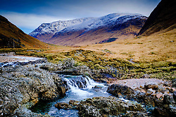 The River Etive flowing through Glen Etive, Highlands of Scotland<br /> <br /> (c) Andrew Wilson | Edinburgh Elite media