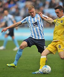 MARK BEEVERS MILLWALL, ANDY ROSE COVENTRY CITYCoventry City v Millwall Sky Bet League One, Ricoh Arena, Saturday 16th April 2016<br /> Score 2-1