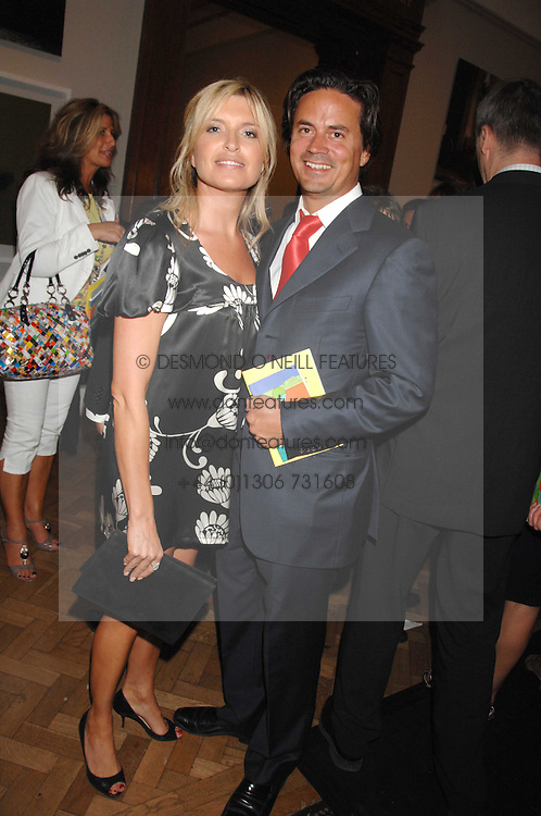 Actress TINA HOBLEY and her husband OLIVER WHEELER at the Royal Academy of Arts Summer Exhibition Party at the Royal Academy, Piccadilly, London on 6th June 2007.<br /><br />NON EXCLUSIVE - WORLD RIGHTS