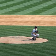 Pitcher Justin Verlander pitching for the Detroit Tigers  during the New York Yankees V Detroit Tigers Major League Baseball regular season baseball game at Yankee Stadium, The Bronx, New York. 11th August 2013. Photo Tim Clayton