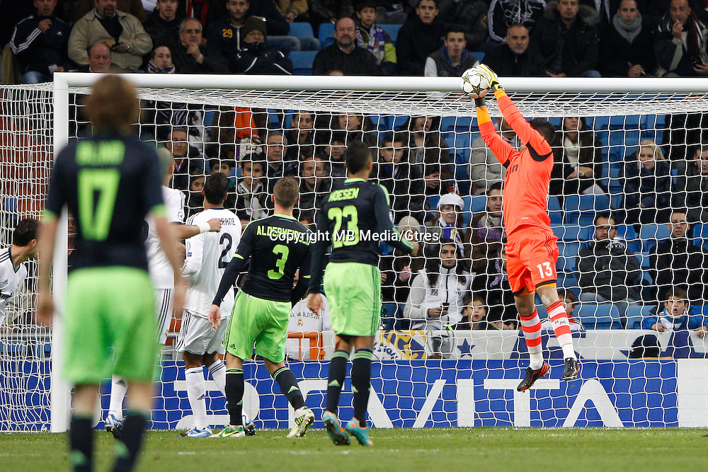04.12.2012 SPAIN -  Champions League 12/13 Matchday 6th  match played between Real Madrid CF vs AFC Ajax (4-1) at Santiago Bernabeu stadium. The picture show Antonio Adan Garrido (Spanish goalkeeper Real Madrid)