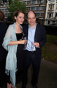 Mr. and Mrs. Alain de Botton, Summer party at the Natural History Museum, 29 June 2004. SUPPLIED FOR ONE-TIME USE ONLY-DO NOT ARCHIVE. © Copyright Photograph by Dafydd Jones 66 Stockwell Park Rd. London SW9 0DA Tel 020 7733 0108 www.dafjones.com
