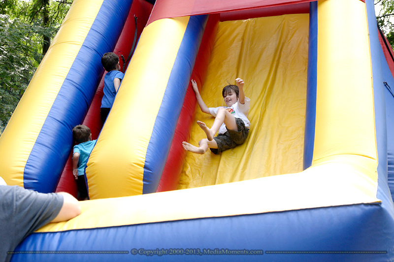 A glimpse of the children's area of the Holiday at Home festival on the Christ United Methodist Church grounds, Sunday, September 6, 2009.