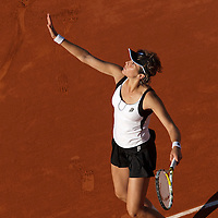 30 May 2009: Maria Jose Martinez Sanchez of Spain serves during the the Women's Third Round match on day seven of the French Open at Roland Garros in Paris, France.