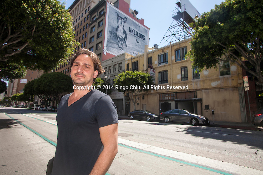 Chef Juan Pablo Torre, parter of hospitality group Tuck Ventures that's turning an old downtown building into Dart Hotel & Restaurant in downtown Los Angeles. (Photo by Ringo Chiu/PHOTOFORMULA.com)