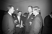 1966 Sterling Moss is the guest of honour at a midnight matinee showing of films from the Irish Shel