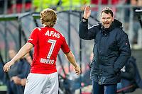 ALKMAAR - 04-12-2015, AZ - ADO Den Haag, AFAS Stadion, 0-1, AZ speler Guus Hupperts, Assistent trainer Dennis Haar.