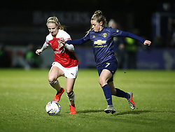 February 7, 2019 - London, England, United Kingdom - Ella Toone of Manchester United Women  tackles Beth Mead of Arsenal .during FA Continental Tyres Cup Semi-Final match between Arsenal and Manchester United Women FC at Boredom Wood on 7 February 2019 in Borehamwood, England, UK. (Credit Image: © Action Foto Sport/NurPhoto via ZUMA Press)