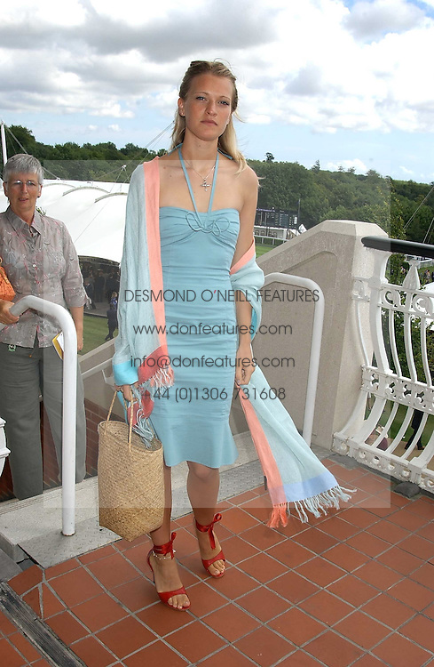 LADY ALEXANDRA GORDON-LENNOX at the 4th day of the 2005 Glorious Goodwood horseracing festival at Goodwood Racecourse, West Sussex on 29th July 2005.    <br />
