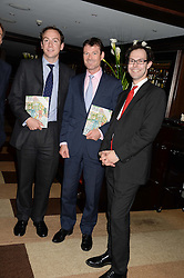 Left to right, NICK ANDJEL, JOE McLOUGHIN and JOSH SPERO at a party to celebrate Ben Goldsmith guest-editing the July/August 2013 edition of Spears Magazine held at 45 Park Lane, London on 19th June 2013.