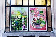 Union Square Cafe Window Installations | Maira Kalman