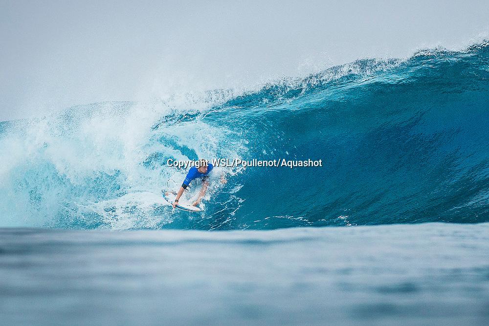 Kolohe Andino (USA)  placed 1st in Heat 2 of Round Four at Billabong Pro Tahiti 2017