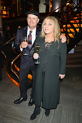 HELEN LEDERER and BOB BURSTON at the 2014 Costa Book of The Year Awards held at Quaglino's, Bury Street, London on 27th January 2015.  The winner of the Book of The Year was Helen Macdonald for her book H is for Hawk.