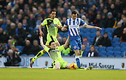 Brighton winger, Jamie Murphy (15) during the Sky Bet Championship match between Brighton and Hove Albion and Huddersfield Town at the American Express Community Stadium, Brighton and Hove, England on 23 January 2016.