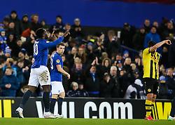 Everton's Romelu Lukakucelebrates after scoring his sides second goal - Photo mandatory by-line: Matt McNulty/JMP - Mobile: 07966 386802 - 26/02/2015 - SPORT - Football - Liverpool - Goodison Park - Everton v Young Boys - UEFA EUROPA LEAGUE ROUND OF 32 SECOND LEG