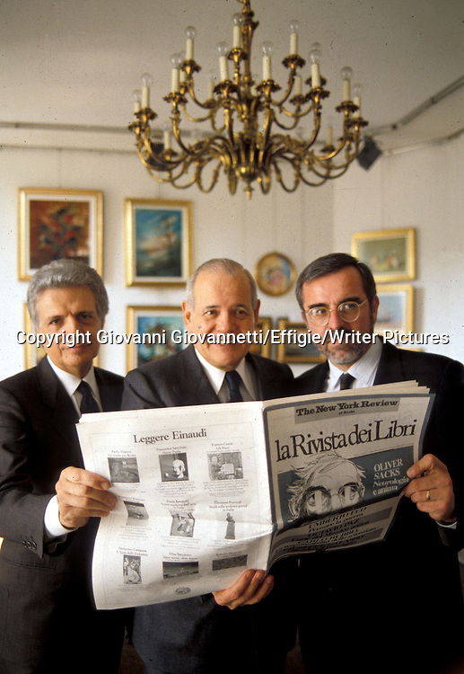Furio Colombo,  Robert Silvers, Pietro Corsi<br /> <br /> <br /> 31/10/2003<br /> Copyright Giovanni Giovannetti/Effigie/Writer Pictures<br /> NO ITALY, NO AGENCY SALES
