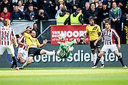 19-05-2016 VOETBAL:NAC BREDA - WILLEM II:BREDA<br /> Doelman Kostas Lamprou van Willem II redt op een inzet van Kenny van der Weg van NAC Breda<br /> <br /> Foto:  Geert van Erven