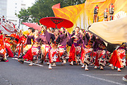 Competitors at the annual Nagoya Dance Festival (Domatsuri)