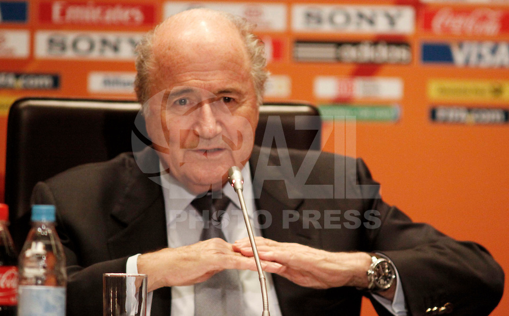 FRANKFURT, ALEMANHA, 16 DE JULHO DE 2011 - COLETIVA JOSEPH BLATTER - Joseph Blatter, presidente da Fifa, durante coletiva de imprensa sobre a Copa do Mundo Fifa de Futebol Feminino, neste sábado (16 noHotel Westin Grand na cidade de Frankfurt na Alemanha. (FOTO: WILLIAM VOLCOV - NEWS FREE).
