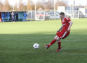 Winning penalty for Harvester - Harvester v Fairfield - Fosters Scottish Sunday Trophy semi final<br /> <br />  - &copy; David Young - www.davidyoungphoto.co.uk - email: davidyoungphoto@gmail.com