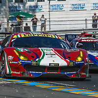 #51, AF Corse,Ferrari 488 GTE, driven by: James Calado, Alessandro Pier Guidi, Michele Rugolo, on 14/06/2017 at the 24H of Le Mans, 2017