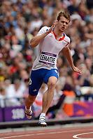 LONDON OLYMPIC GAMES 2012 - OLYMPIC STADIUM , LONDON (ENG) - 07/08/2012 - PHOTO : JULIEN CROSNIER / KMSP / DPPI<br /> ATHLETICS - MEN'S 200M - CHRISTOPHE LEMAITRE (FRA)