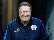 QPR Manager Neil Warnock in high spirits before the Sky Bet Championship match between Queens Park Rangers and Leeds United at the Loftus Road Stadium, London, England on 28 November 2015. Photo by Andy Walter