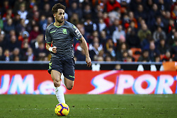 February 10, 2019 - Valencia, Spain - Januzaj  of Real Sociedad  during  spanish La Liga match between Valencia CF v Real Sociedad at Mestalla Stadium on February 10, 2019. (Photo by Jose Miguel Fernandez/NurPhoto) (Credit Image: © Jose Miguel Fernandez/NurPhoto via ZUMA Press)