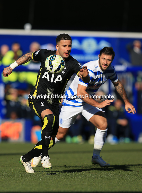 7 March 2015 - Barclays Premier League - QPR v Tottenham Hotspur - Kyle Walker of Tottenham Hotspur in action with Charlie Austin of QPR - Photo: Marc Atkins / Offside.