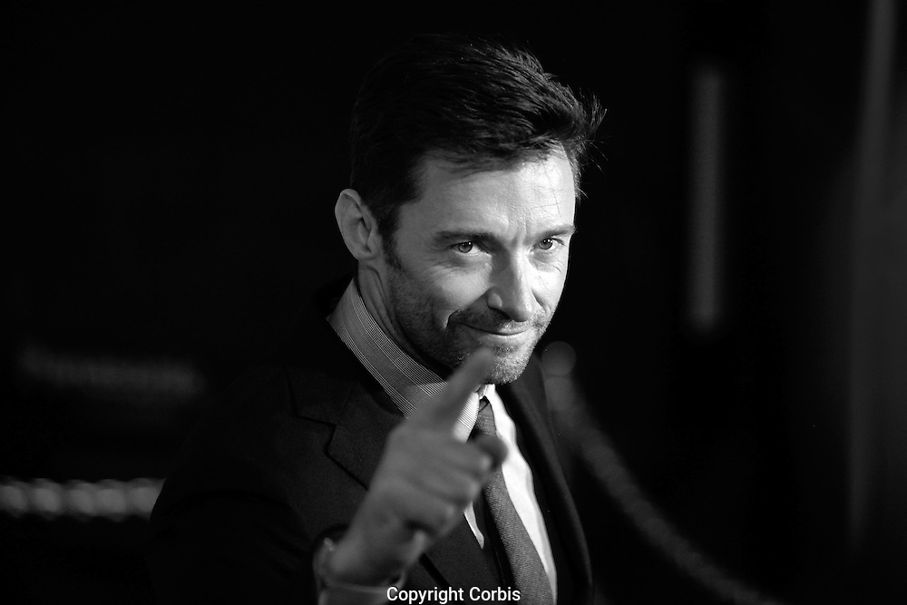 SYDNEY, NSW - SEPTEMBER 28:  Actor Hugh Jackman poses on the red carpet at the Australian premiere of 'Real Steel' at Event Cinemas on September 28, 2011 in Sydney, Australia.  (Photo by Marianna Massey/Corbis/Marianna Massey/Corbis)