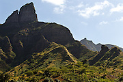 Mountain scenery along the road from Praia to Tarrfal, Santiago island, Cape Verde, Africa on Monday December 27, 2010.