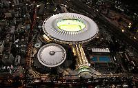 "Football Fifa World Cup Brazil 2014 / <br /> Rio de Janeiro - Rio de Janeiro - Brazil -<br /> Panoramic View of Mario Filho Stadium , better known as "" Maracana Stadium "" , Ready for the next  <br /> FIFA World Cup Brazil 2014  , and able to accommodate a capacity of 73,531  Spectators"