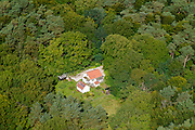 Nederland,Noord-Holland, Hilversum, 30-09-2015. Huis in het Bos van Einde Gooi.<br /> luchtfoto (toeslag op standard tarieven);<br /> aerial photo (additional fee required);<br /> copyright foto/photo Siebe Swart
