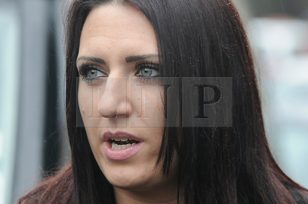 © Licensed to London News Pictures. 15/11/2014 Jayda Fransen, Rochester By-election candidate for Britain First. Britain First held a march in Rochester today (15.11.2014) with anti- fascist groups also in attendance to try and  Stop the march taking place. (Byline:Grant Falvey/LNP)