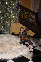 Erin O'connor at reception to celebrate the launch of the Claridge's Christmas Tree 2017 at Claridge's Hotel, Brook Street, London England. 28 November 2017.<br /> Photo by Dominic O'Neill/SilverHub 0203 174 1069 sales@silverhubmedia.com