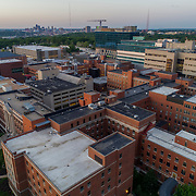 University of Kansas Medical Center campus buildings; Kansas City, Kansas near state line boundary between states of Kansas and Missouri.