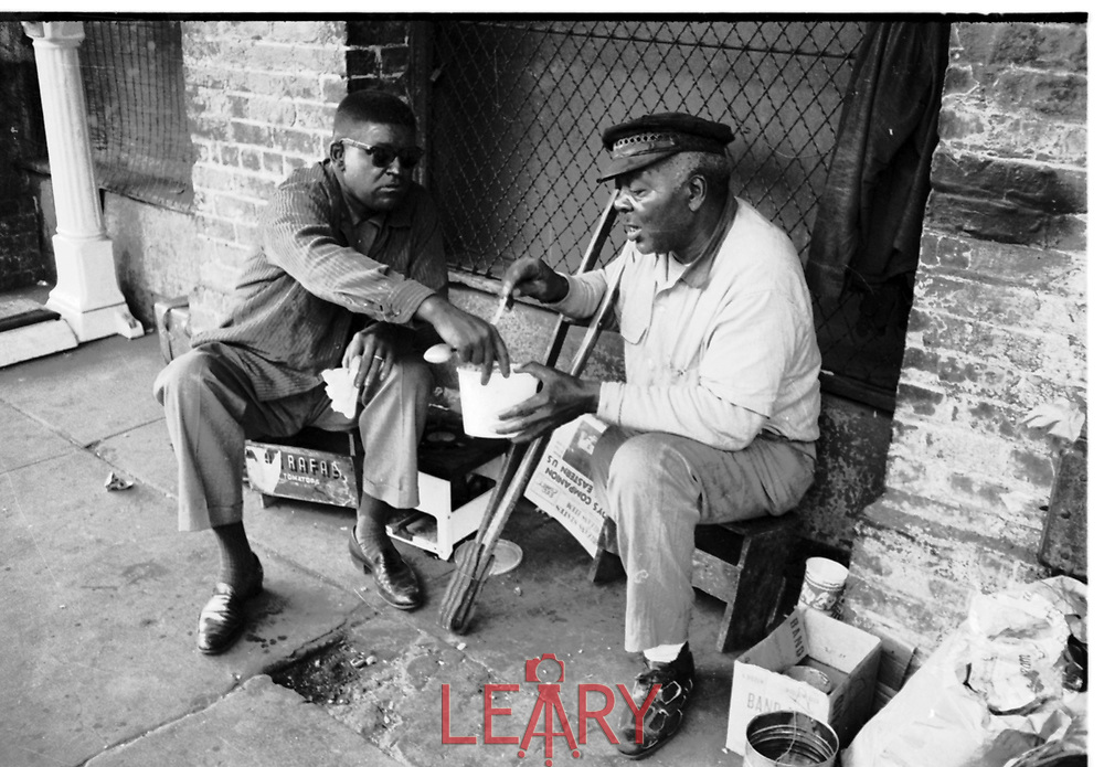 The shoe shine man had to be told by Don that John Howard Griffin was white and not black.  He could hardly believe that this man was really white.  This all took place on the streets of New Orleans.