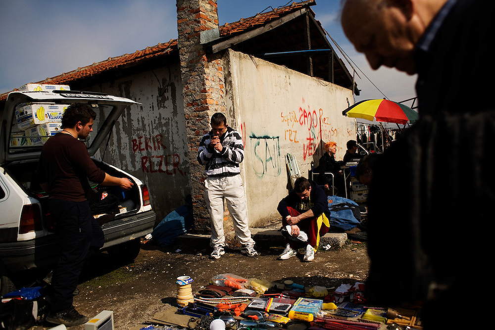 "In the massive ""car market"" on the outskirts of Sarajevo, Bosnia and Herzegovina, March 15, 2009."