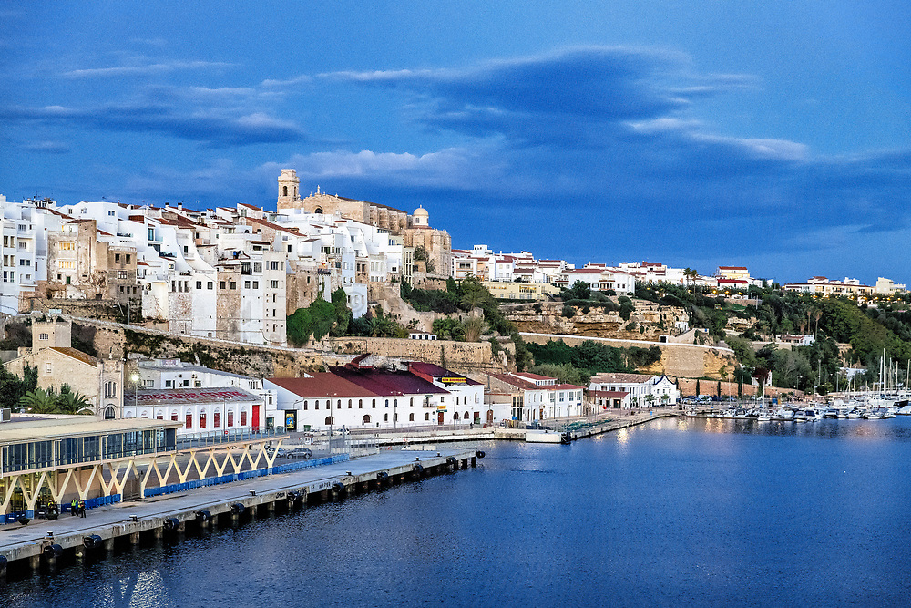 Cityscape, Mahon, Menorca, Balearic Islands, Spain.