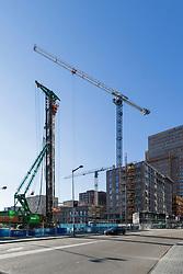 Bouwplaats, nieuwbouw, building site, construction site