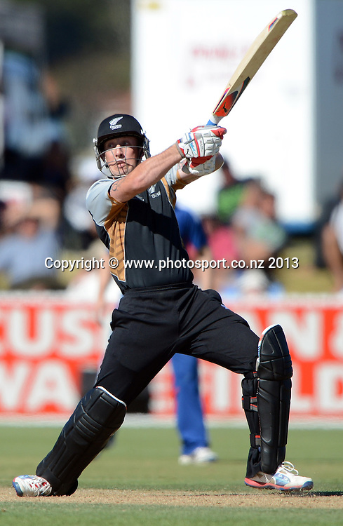 New Zealand batsman Luke Ronchi in action. Twenty20 Cricket. England v NZ XI. England Cricket tour to New Zealand. Cobham Oval. Whangarei, New Zealand on Wednesday 6 February 2013. Photo: Andrew Cornaga/Photosport.co.nz