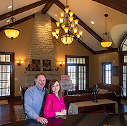 David Mix and Jana Buckley with Bassett Mix Real Estate stand in the guest house at 3487 Horse Meadow Drive in Fayetteville, on Monday, March 10, 2014.<br /> <br /> Photo by Beth Hall
